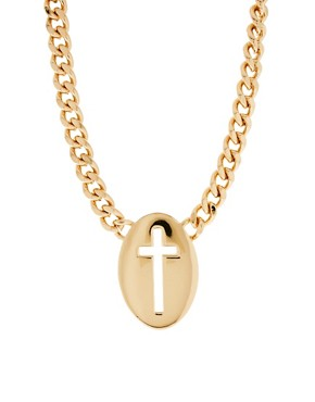 Image 1 ofASOS Cut Out Cross Necklace