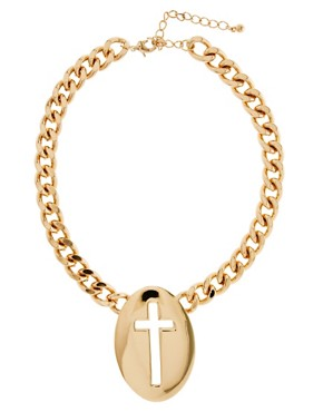 Image 2 ofASOS Cut Out Cross Necklace