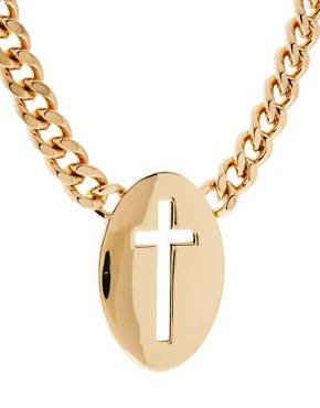 Image 4 ofASOS Cut Out Cross Necklace