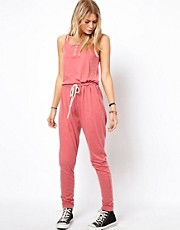 ASOS Onesie in Acid Wash with Strap Detail