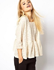 ASOS Top with Lace Trapeze
