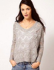 River Island Stitch Sequin Jumper