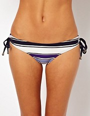 French Connection - Stripey Sandy - Slip bikini con laccetti laterali ad anello
