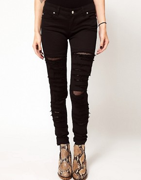 Image 1 ofTripp Nyc Tear It Up Skinny Jeans