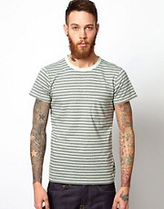 Universal Works T-Shirt With Stripe And Pocket