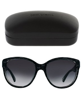 Image 2 ofDolce And Gabanna Grey On Black Sunglasses