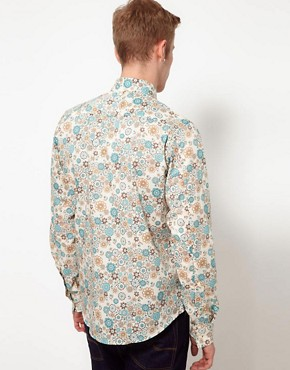 Image 2 ofPretty Green Shirt with Floral Print