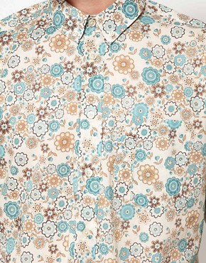 Image 3 ofPretty Green Shirt with Floral Print