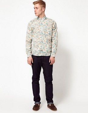 Image 4 ofPretty Green Shirt with Floral Print