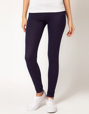 Image 4 ofASOS Leggings in Denim Look