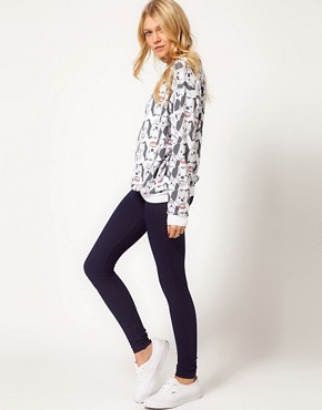 Image 1 ofASOS Leggings in Denim Look