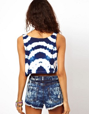 Image 2 ofASOS Swing Vest in Tie Dye