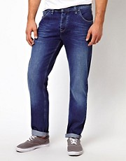 ASOS Straight Jean In Washed Blue