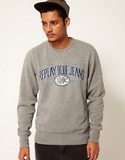 Replay Crew Sweatshirt Logo Front