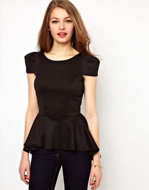 Image 1 of A Wear Peplum Bombshell Top