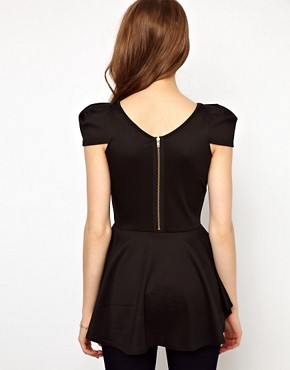 Image 2 of A Wear Peplum Bombshell Top