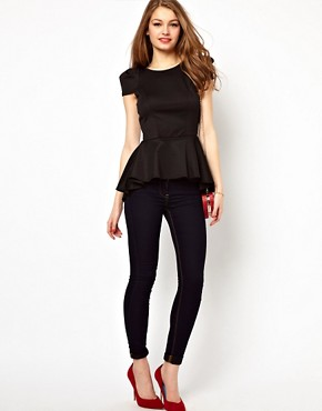 Image 4 of A Wear Peplum Bombshell Top