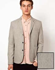 ASOS Slim Fit Blazer in Grey Wool Mix