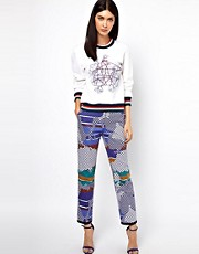 Ostwald Helgason Trousers in Graphic Links Print