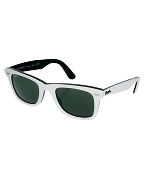 Image 1 of Ray-Ban Top White on Black Original Wayfarer Sunglasses