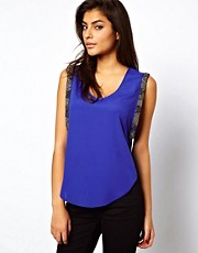 ASOS Vest With Embellished Drop Armhole