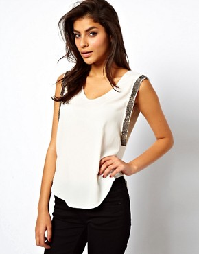 Image 1 ofASOS Vest With Embellished Drop Armhole