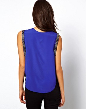 Image 2 ofASOS Vest With Embellished Drop Armhole