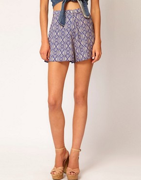 Image 4 ofRiver Island Tribal Print Shorts
