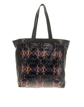Image 1 ofASOS BLACK By Markus Lupfer Printed Shopper