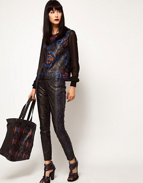 Image 3 ofASOS BLACK By Markus Lupfer Printed Shopper