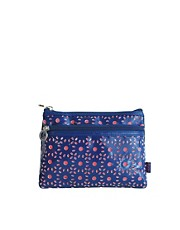 Tender Love &amp; Carry Cut Out Make-Up Bag - Navy &amp; Coral