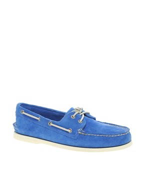 Image 1 ofSperry Top-Sider Suede Boat Shoes