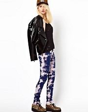 Tripp NYC Tie Dye Ripped Skinny Jeans