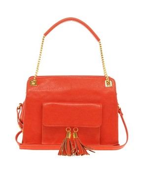 ASOS Tassel Chain Handle Bag  :  chain red shoulder bag