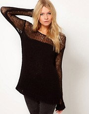 ASOS Jumper With Open Stitch Top
