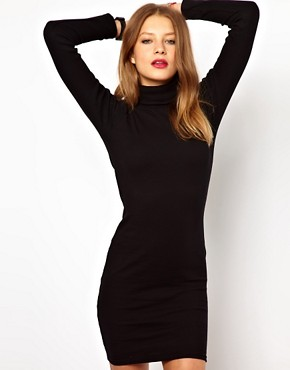 Image 1 ofAmerican Apparel Polo Neck Dress