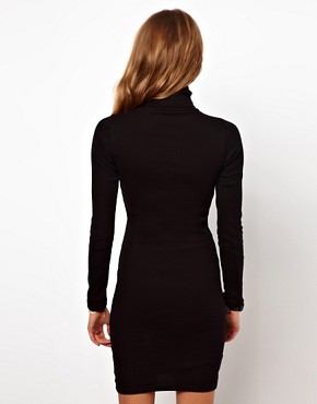 Image 2 ofAmerican Apparel Polo Neck Dress