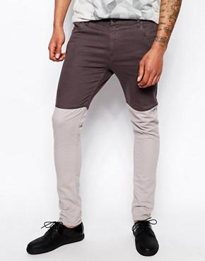 ASOS BLACK Panelled Jeans
