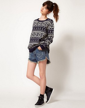 Image 4 ofOne Teaspoon Fairisle Oversized Knit