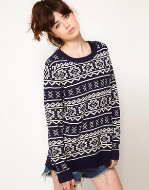 Image 1 ofOne Teaspoon Fairisle Oversized Knit