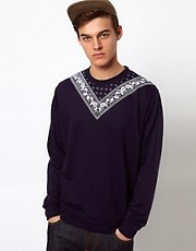 Bellfield Sweatshirt With Bandana Print