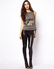 ASOS Skinny Pants In Leather Look