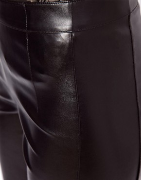 Image 3 ofASOS Skinny Trousers In Leather Look
