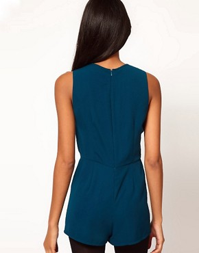 Image 2 ofASOS Playsuit with Knot Front