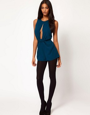 Image 4 ofASOS Playsuit with Knot Front