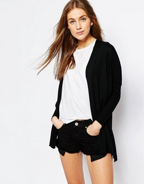 ASOS Fine Cardigan in Boxy Shape