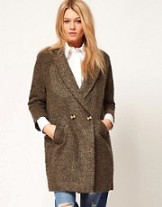 ASOS Textured Back Detail Coat