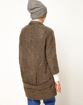 Image 2 ofASOS Textured Back Detail Coat