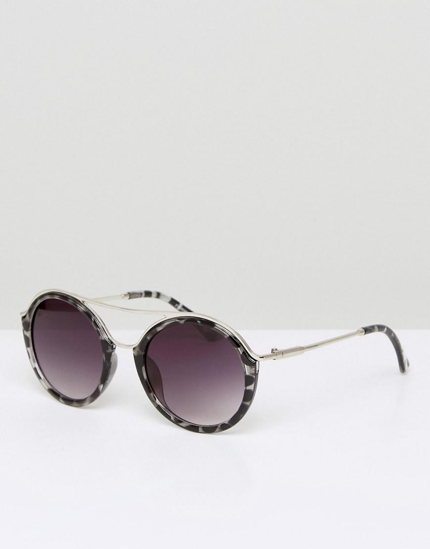 Круглые солнцезащитные очки 7X - Коричневый