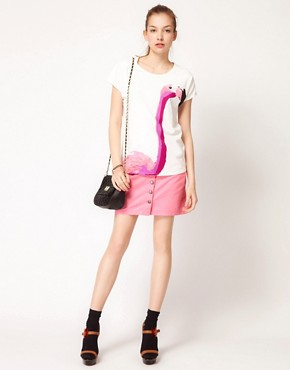 Image 4 ofVero Moda Flamingo Print T-Shirt